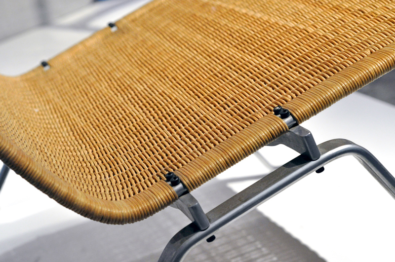 Detail of PK22 Chair, Wicker and Steel. Photo by Jonas Forth: https://www.flickr.com/photos/jforth/